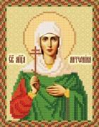 Рисунок на атласе для вышивки бисером иконы Святая Антонина