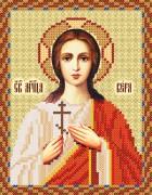 Рисунок на атласе для вышивки бисером Святая мученица Вера