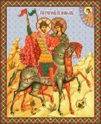 Рисунок на ткани для вышивки бисером Святые князья Борис и Глеб