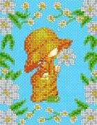 Рисунок на ткани для вышивки бисером Ромашковая детка