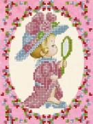 Рисунок на ткани для вышивки бисером Детка-кокетка