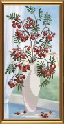Рисунок на ткани для вышивки бисером Рябинка