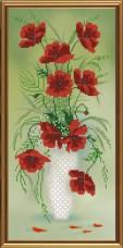 Рисунок на ткани для вышивки бисером Амфора. Красный букет Новая Слобода (Нова слобода) БИС-3201