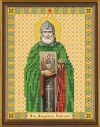Рисунок на ткани для вышивки бисером Святой Александр Свирский