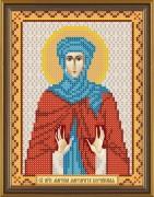 Рисунок на ткани для вышивки бисером Святая Марина (Маргарита) Берийская