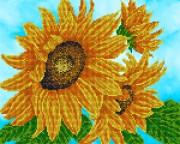 Рисунок на ткани для вышивки бисером Цветок солнца