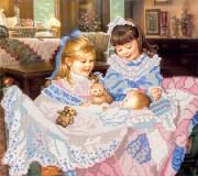 Рисунок на ткани для вышивки бисером Младший братик