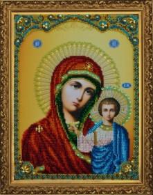Набор для вышивки бисером Казанская Икона Божией Матери Картины бисером Р-108 - 866.00грн.