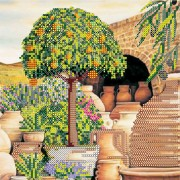 Рисунок на холсте для вышивки бисером Мандариновое дерево