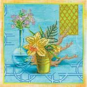 Рисунок на холсте для вышивки бисером Лазурь