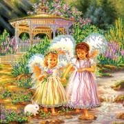 Рисунок на холсте для вышивки бисером Сестрички