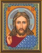 Рисунок на ткани для вышивки бисером Христос Спаситель