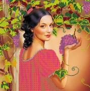 Рисунок на холсте для вышивки бисером Испанский виноград