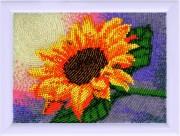 Рисунок на атласе для вышивки бисером Подсолнух