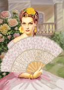 Рисунок на атласе для вышивки бисером Кармен