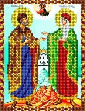 Схема для вышивки бисером на атласе Пётр и Февронья А-строчка АС5-009