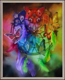 Набор для вышивки бисером Ловец снов, , 610.00грн., P-127, Картины бисером, Схемы и наборы для вышивки бисером по Фен шуй