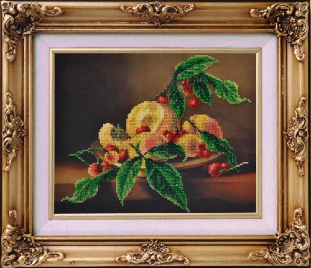 Вышивка натюрморты с вишнями