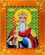 Схема вышивки бисером на габардине Святой Князь Владимир