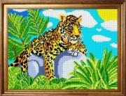 Рисунок на ткани для вышивки бисером Леопард