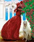 Рисунок на ткани для вышивки бисером Розовая Альтанка