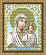 Рисунок на габардине для вышивки бисером Образ Пресвятой богородицы Казанская
