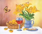 Рисунок на ткани для вышивки бисером Жёлтые лилии
