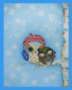 Набор для вышивки бисером Весёлые совята-5