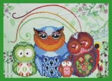 Набор для вышивки бисером Весёлые совята-8 Картины бисером Р-136