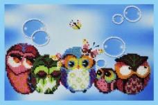 Набор для вышивки бисером Весёлые совята-9 Картины бисером Р-137