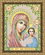 Рисунок на габардине для вышивки бисером Казанская Божия Матерь