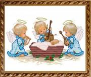 Рисунок на габардине для вышивки бисером  С Рождением Мальчика!