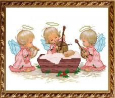 Схема вышивки бисером на габардине С Рождением Девочки! Art Solo VKA4016B