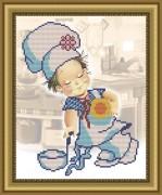 Рисунок на габардине для вышивки бисером Веселый поваренок