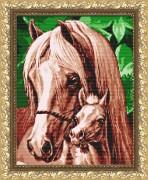Рисунок на габардине для вышивки бисером  Мамина любовь