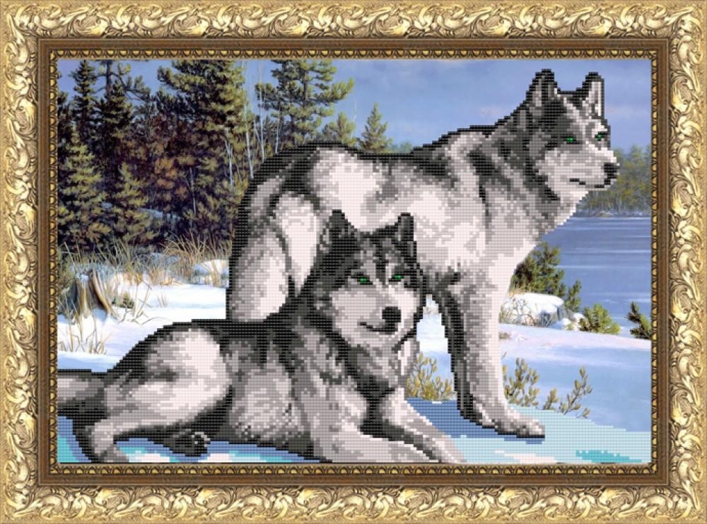 Вышивки рисунок волки