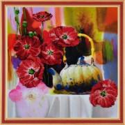 Набор на ткани для вышивки бисером Цветочная акварель