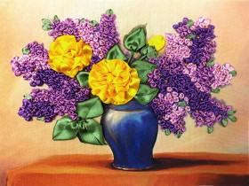 Набор для вышивки бисером Желтые розы и сирень Марiчка (Маричка) НЛ-4007 - 101.00грн.