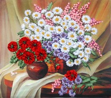 Набор для вышивки лентами Полевые цветы Марiчка (Маричка) НЛ-3005