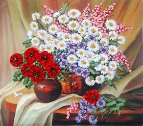 Набор для вышивки лентами Полевые цветы Марiчка (Маричка) НЛ-3005 - 172.00грн.