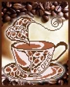 Рисунок на габардине для вышивки бисером Ароматный кофе