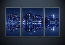 Рисунок на ткани для вышивки бисером Нью-Йорк (триптих) А-строчка АР2-001_1
