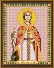 Рисунок на ткани для вышивки бисером Св. Вмц. Екатерина Новая Слобода (Нова слобода) БИС 5118
