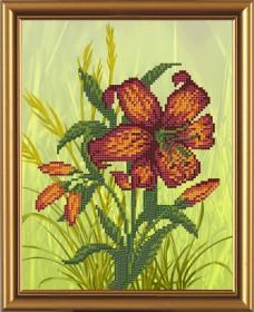 Рисунок на ткани для вышивки бисером Цветочный каприз