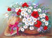 Набор для вышивки лентами Шляпка в цветах