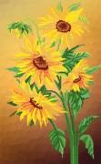 Рисунок на атласе для вышивки бисером Цветы солнца