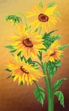 Рисунок на атласе для вышивки бисером Цветы солнца Марiчка (Маричка) РКП-2-003