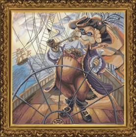 Набор для вышивания нитками на канве Капитан, , 241.00грн., СР1143, Новая Слобода (Нова слобода), Вышивка на дизайнерской канве