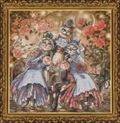 Набор для вышивания нитками на канве Дружное семейство
