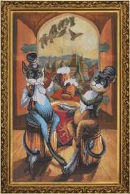 Набор для вышивания нитками на канве Любители пива, , 241.00грн., СР3115, Новая Слобода (Нова слобода), Вышивка на дизайнерской канве